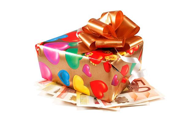 box - geld schön verpacken stock-fotos und bilder