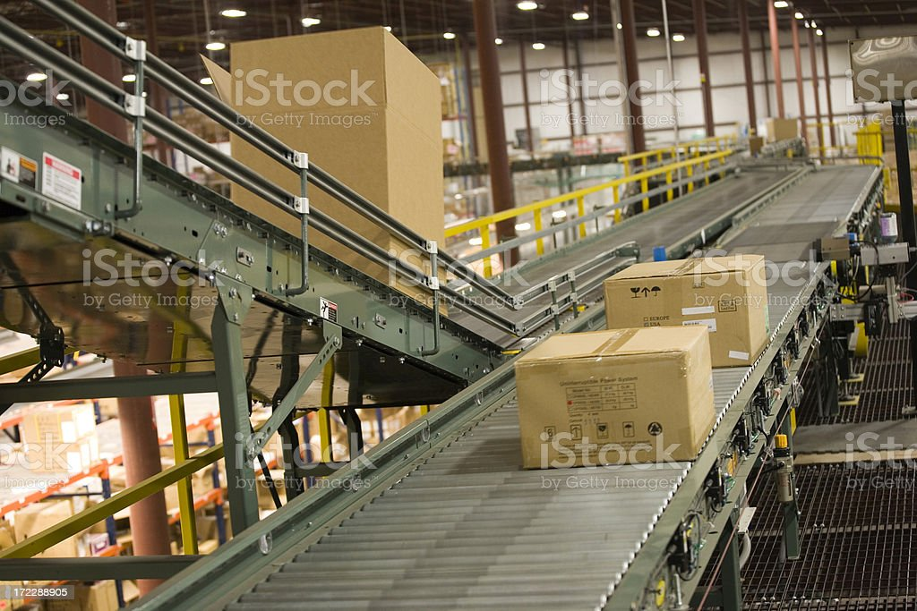 Box - Shipping in a warehouse royalty-free stock photo