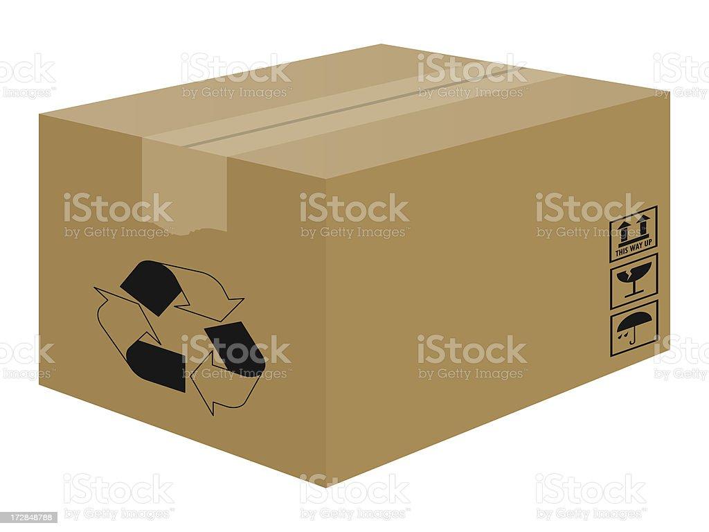 Box zu recyceln Lizenzfreies stock-foto
