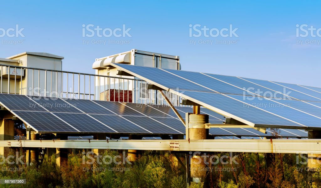 Outdoor photovoltaic power plants and box-type substation