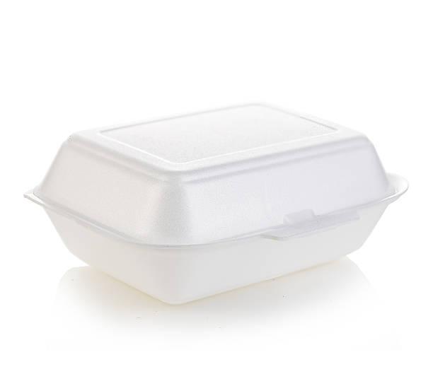 Box white isolated stock photo