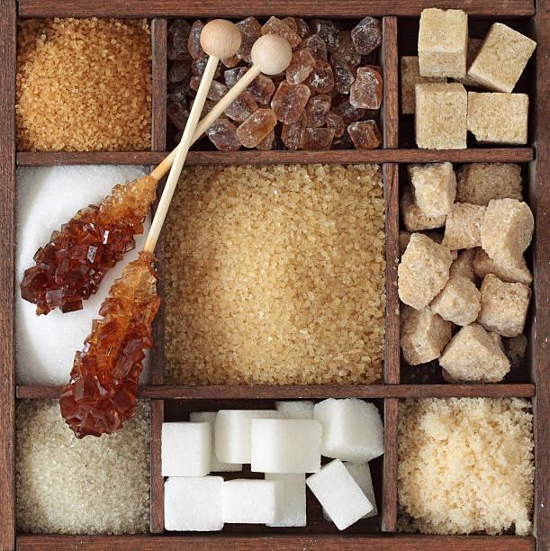 Verschiedene Arten von Zucker – Foto