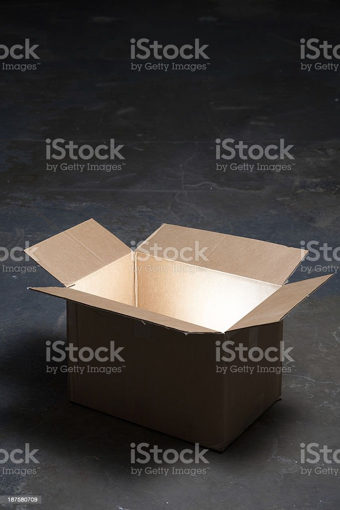 Box with Inner Glow royalty-free stock photo