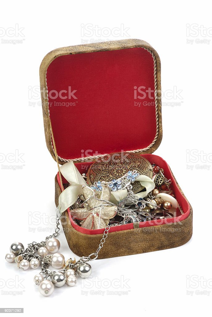 box with jewels royalty-free stock photo