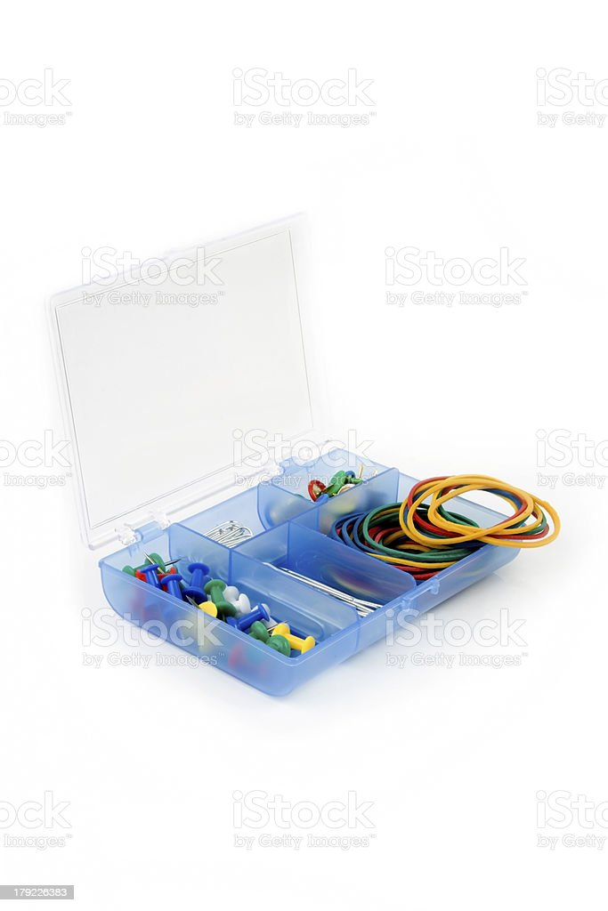 box with paperclips royalty-free stock photo