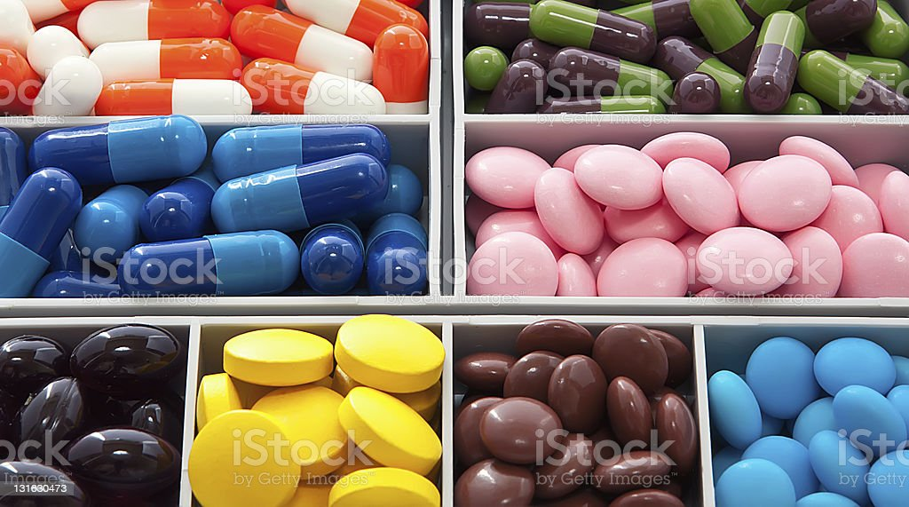 box with pill royalty-free stock photo