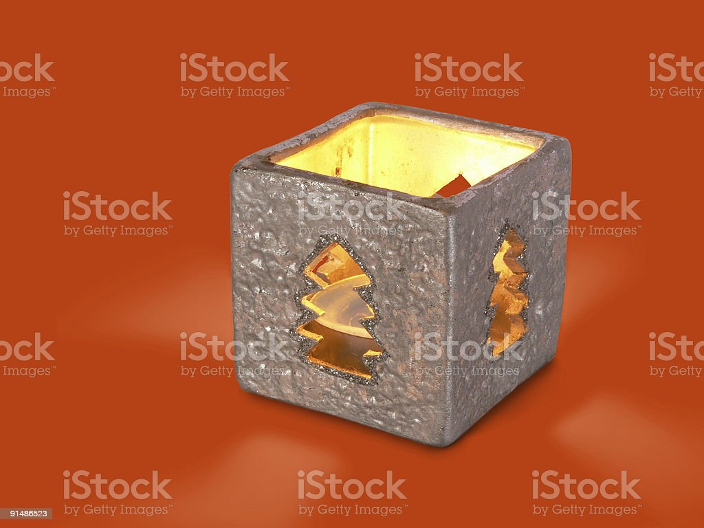 Box-candle royalty-free stock photo