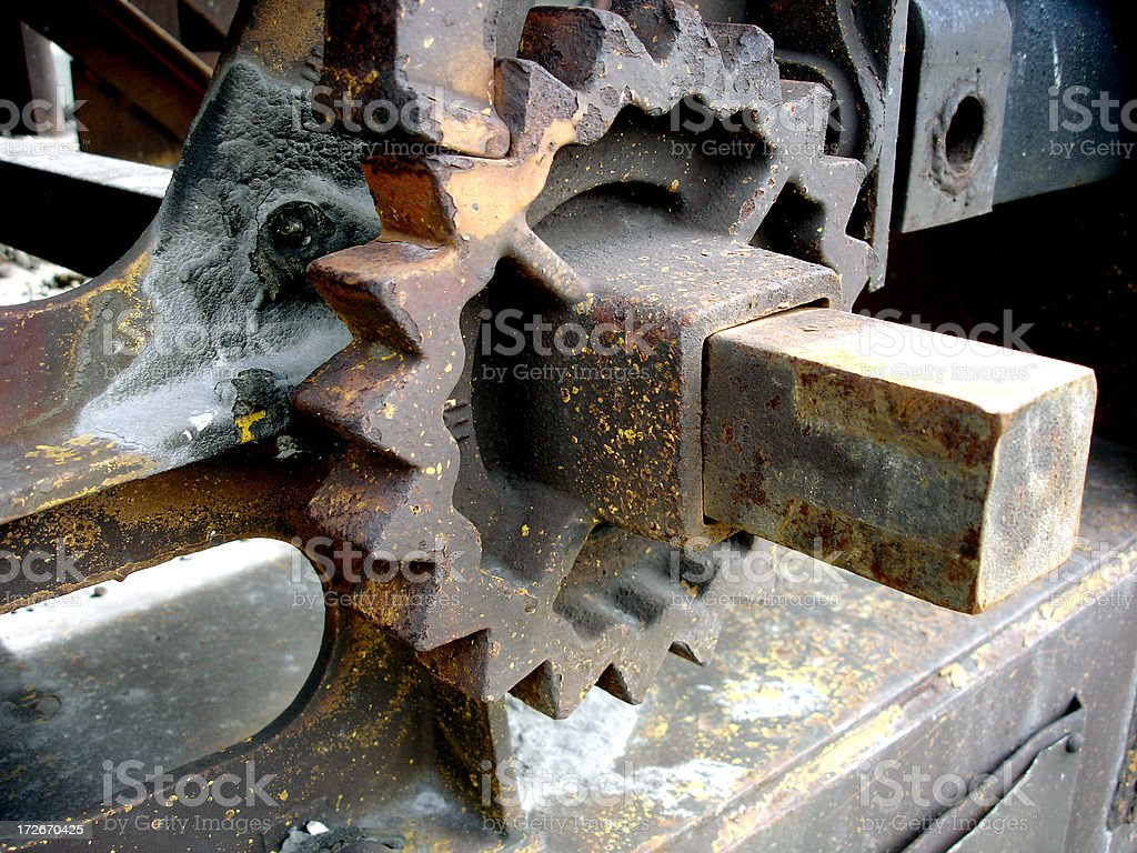 Boxcar railroad gear stock photo