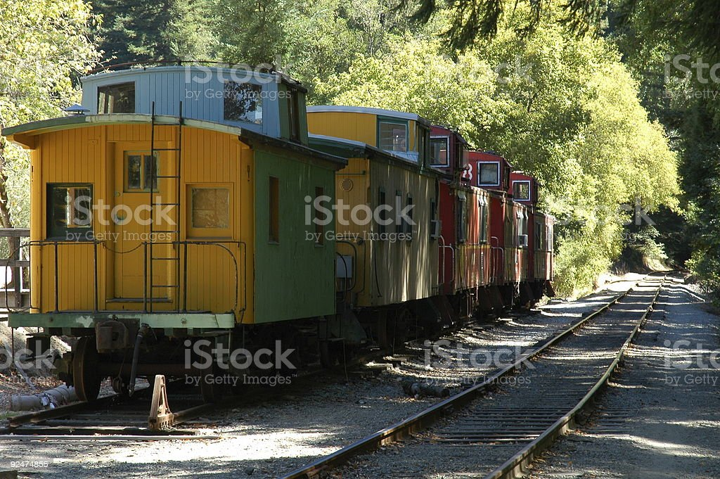Boxcars in a Row royalty-free stock photo