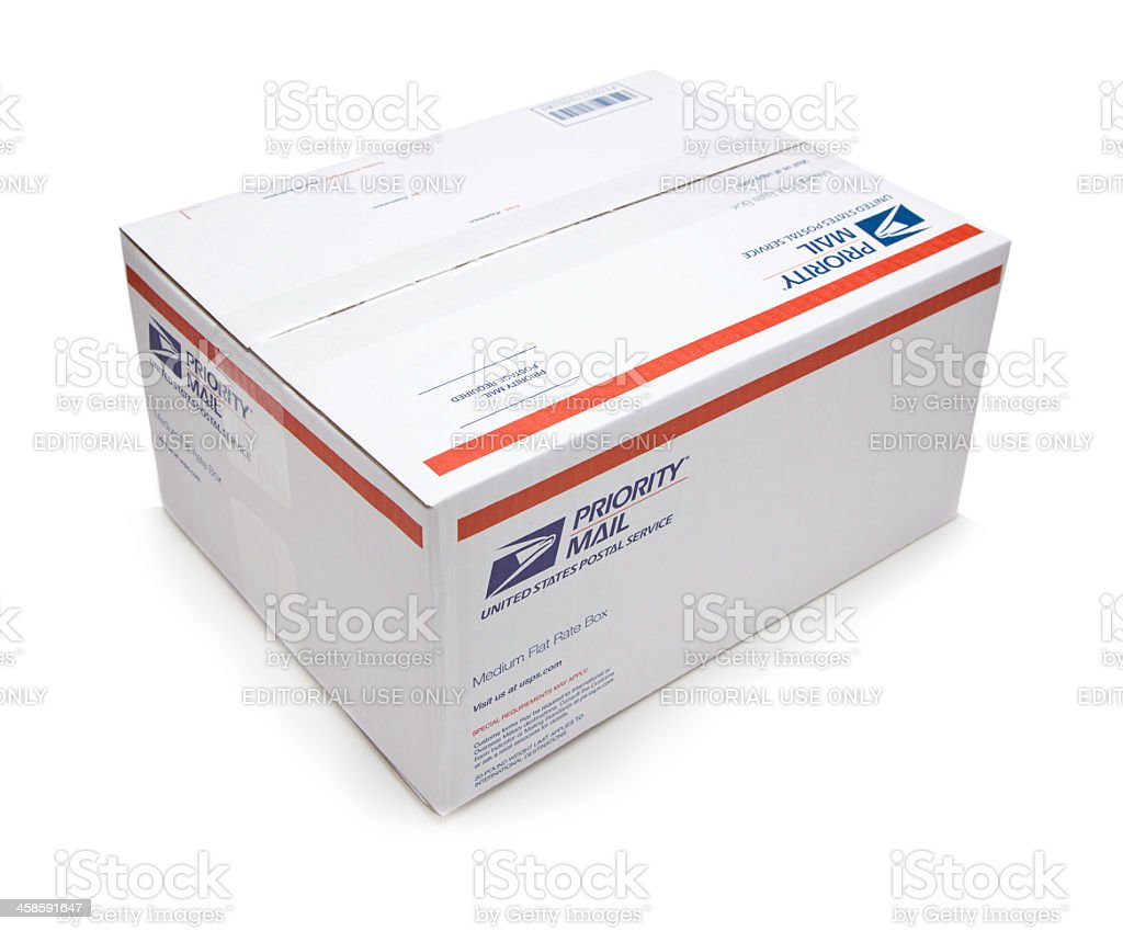 USPS Box-Clipping Path stock photo