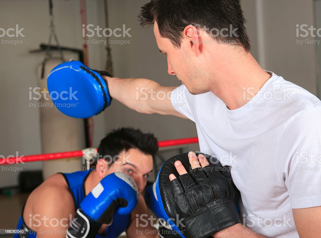 Boxe Personal Trainer Dodge royalty-free stock photo