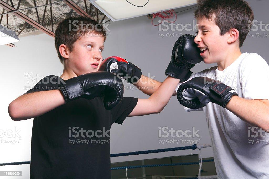 Boxe School - Fun royalty-free stock photo