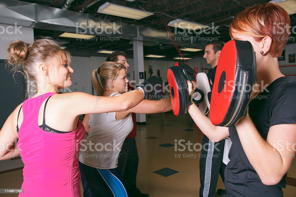Boxe School - Hit Training stock photo