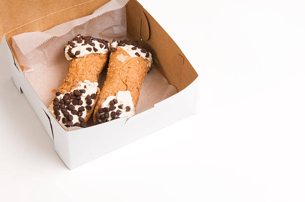 boxed cannoli - 忌廉餅卷 個照片及圖片檔
