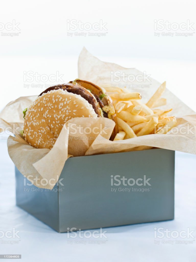 boxed lunch royalty-free stock photo