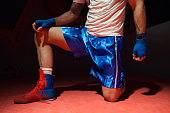 istock Boxer and untied laces on his sneakers 1223018274