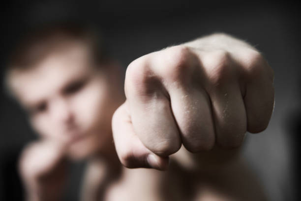 boxer fist close up - punching stock photos and pictures