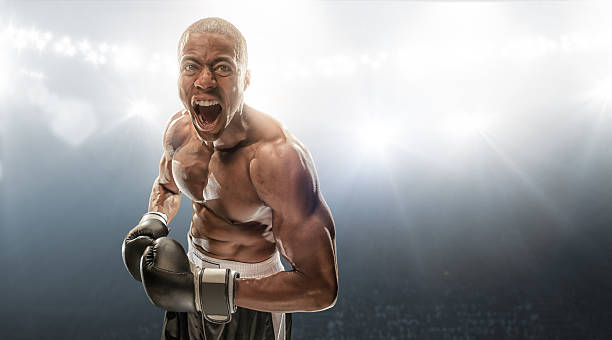 boxer getting ready - combat sport stock pictures, royalty-free photos & images