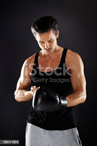 istock Boxer getting ready to train 183411924