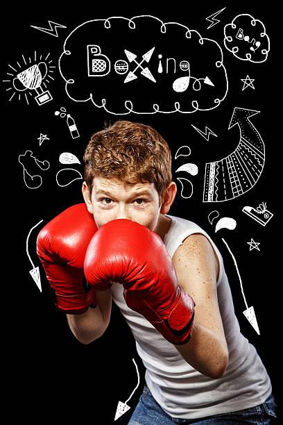 Boxershorts in eine defensive Position – Foto