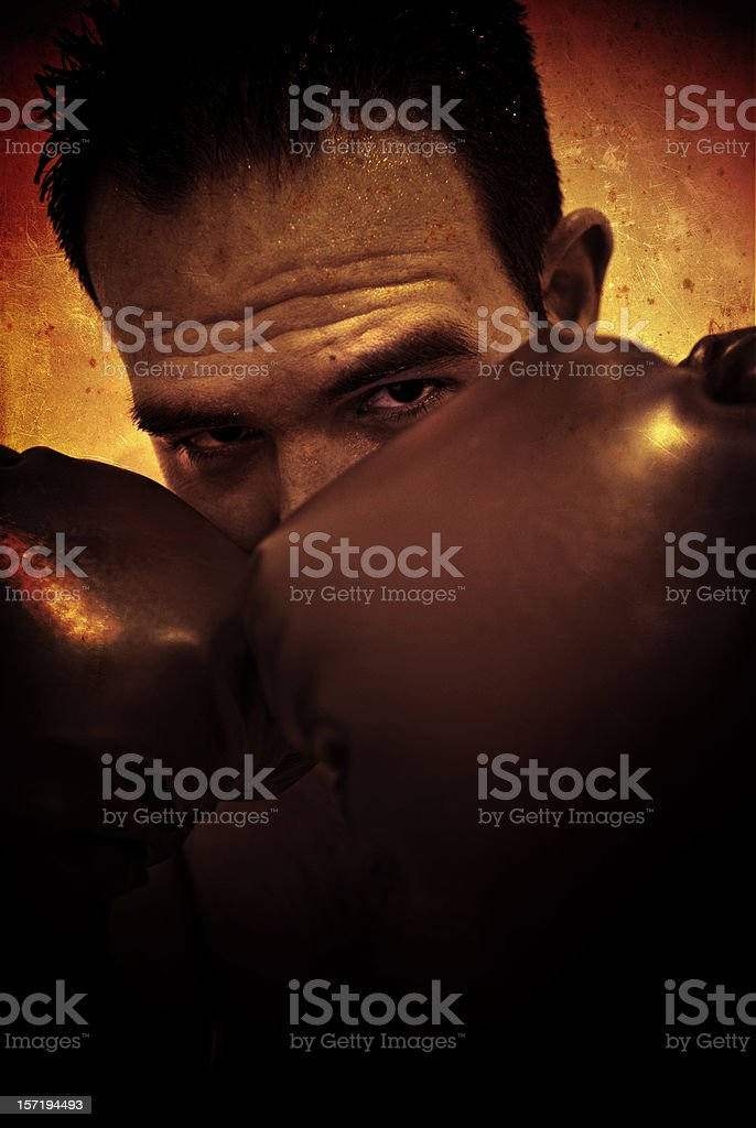 boxer in grunge royalty-free stock photo