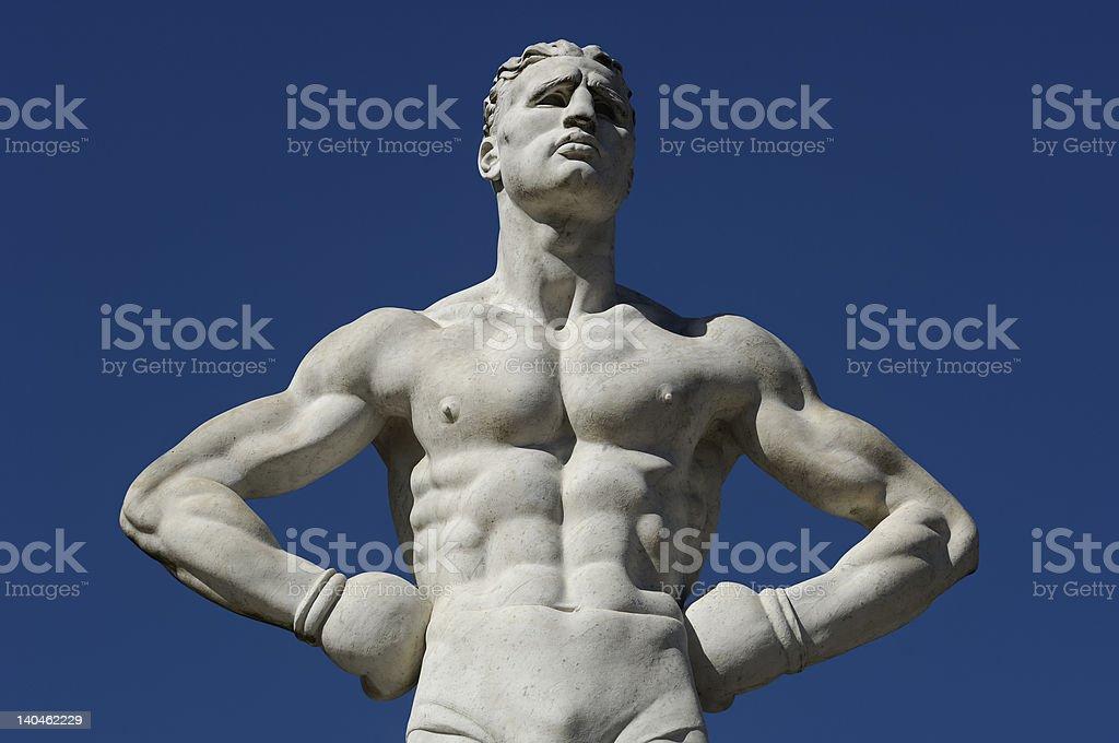 boxer modern sculpture royalty-free stock photo