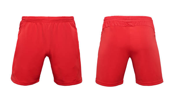 Boxer short red pants isolated on white background Boxer short red pants isolated on white background shorts stock pictures, royalty-free photos & images
