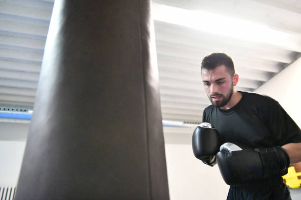 boxertraining - patrick hutter stock-fotos und bilder