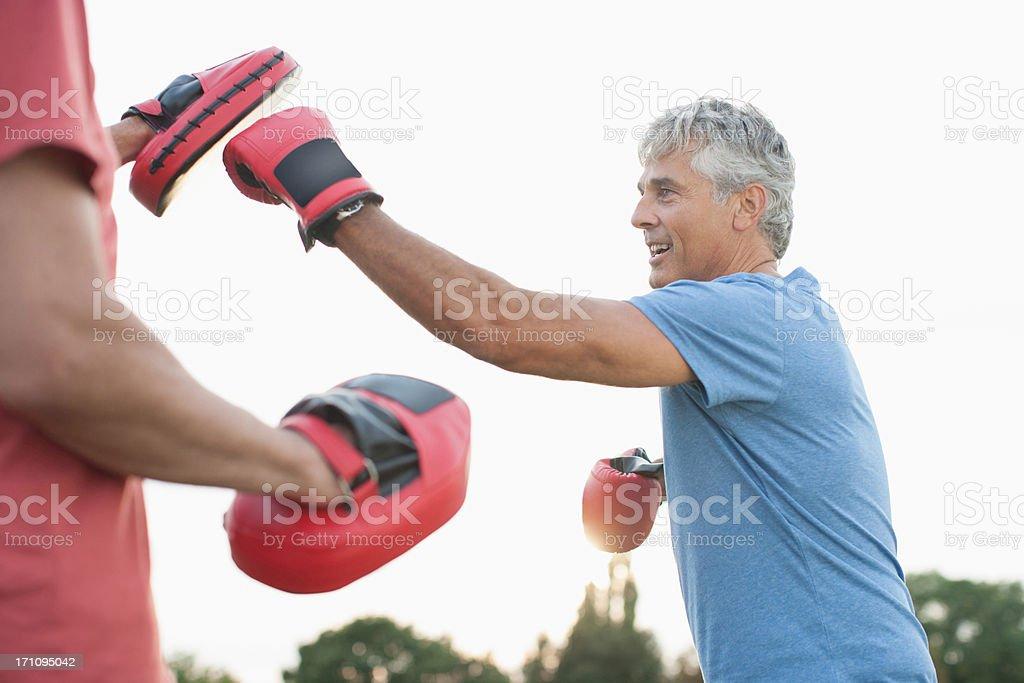 Boxen training mit Plausch partner – Foto