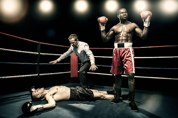 Boxer victory stock photo