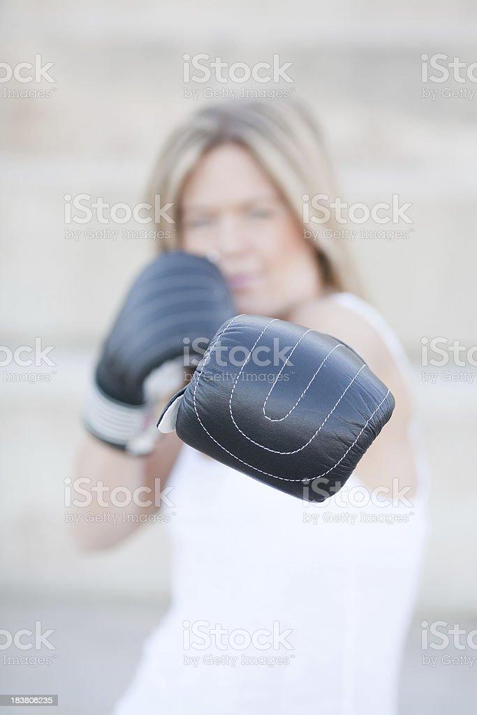Boxercise girl stock photo