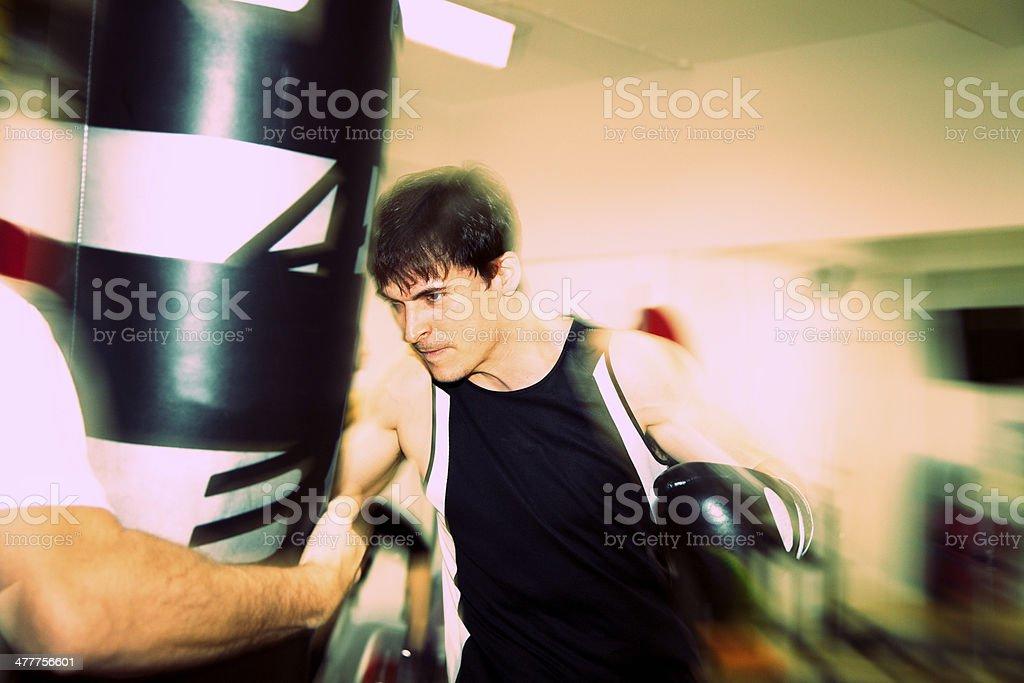 Boxercise stock photo