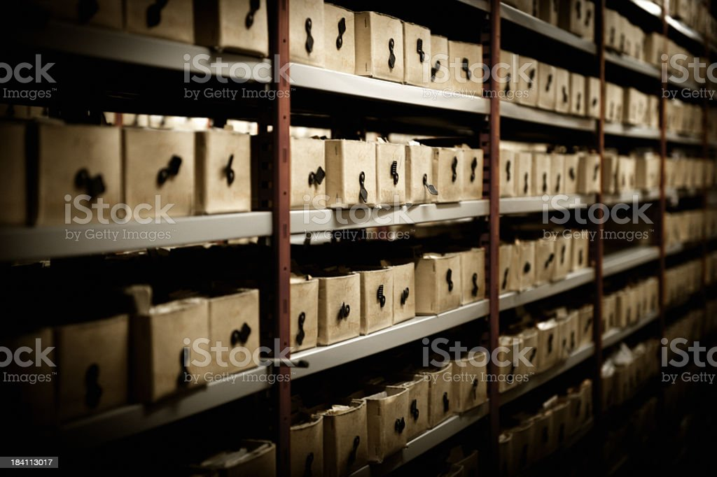 Boxes albums with photographs from Hulton Archive royalty-free stock photo