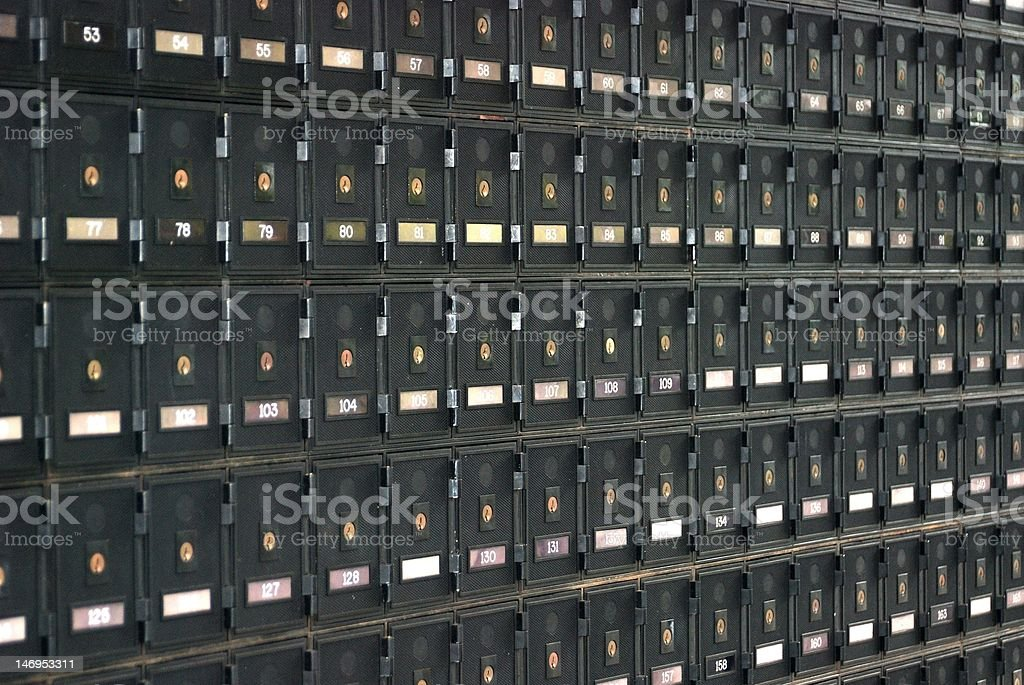 PO boxes at Australian Post Office stock photo