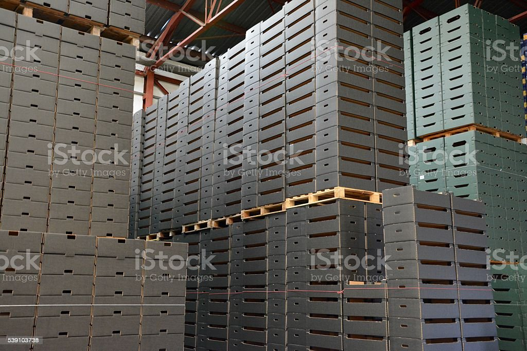 Cajas en un almacén royalty-free stock photo