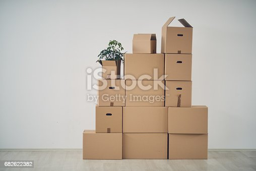 istock Boxes in new apartment 682622382