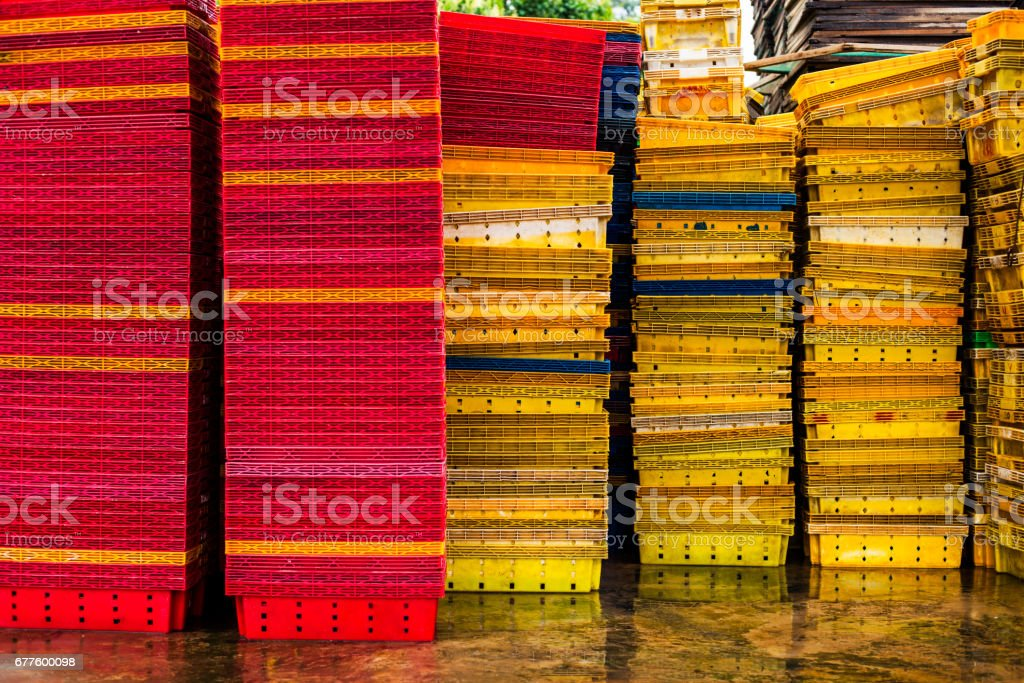 Boxes in the warehouse royalty-free stock photo