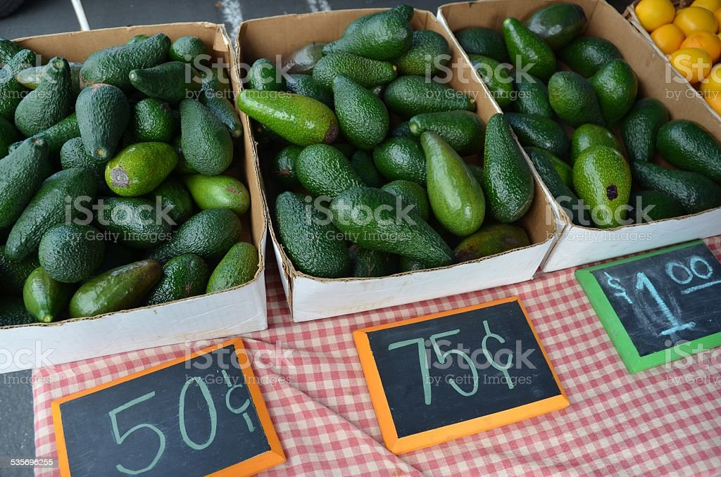 Boxes of Avacados for Sale stock photo