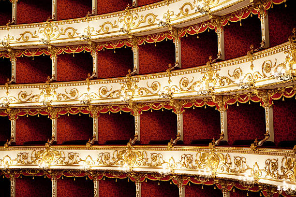 Boxes of Baroque Italian Theater stock photo
