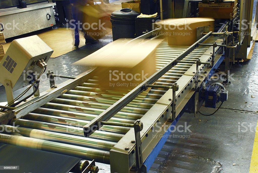 boxes on conveyor stock photo