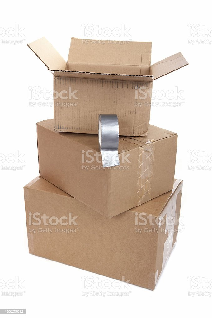 Boxes on moving day royalty-free stock photo