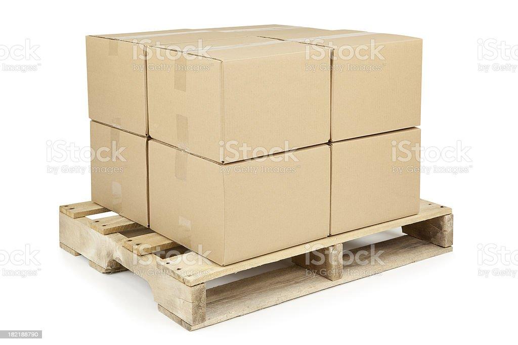 Boîtes sur palette d'expédition - Photo