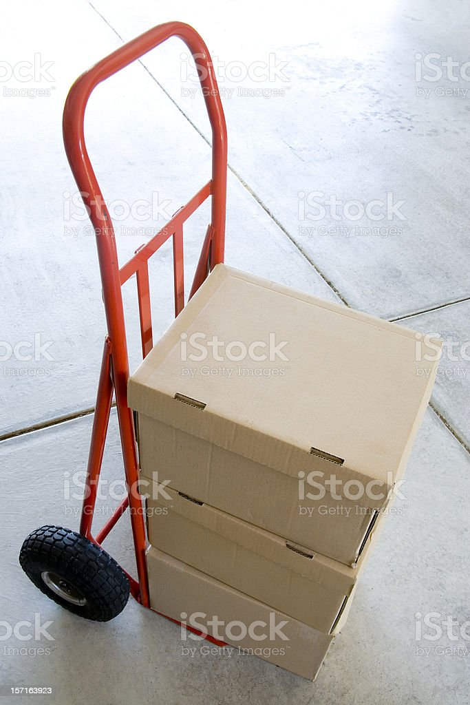 Boxes on Trolley royalty-free stock photo