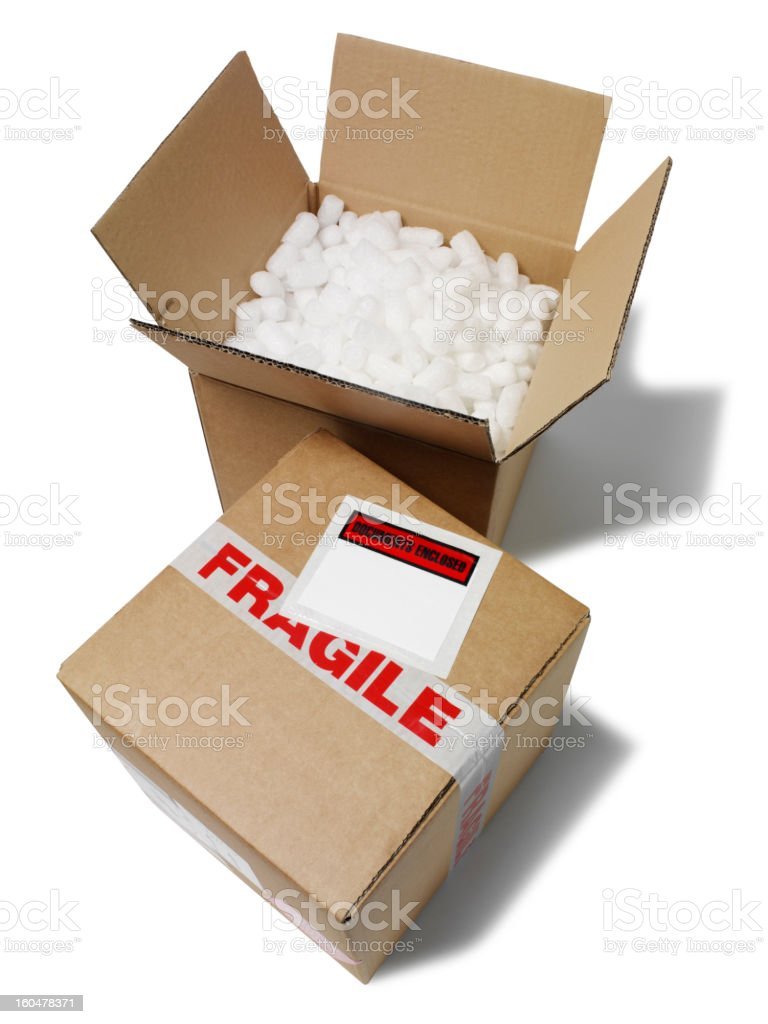 Boxes Packed Safely royalty-free stock photo