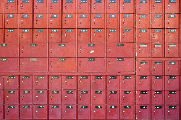 po box - briefhalter stock-fotos und bilder