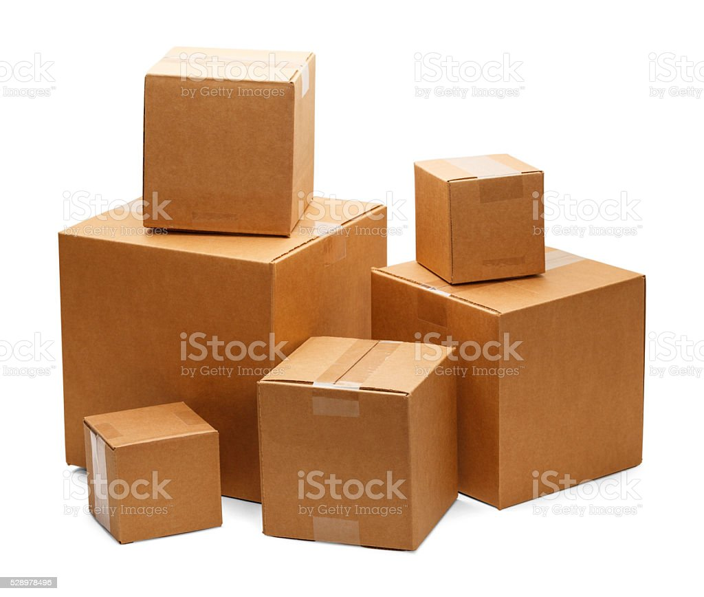 Boxes stock photo