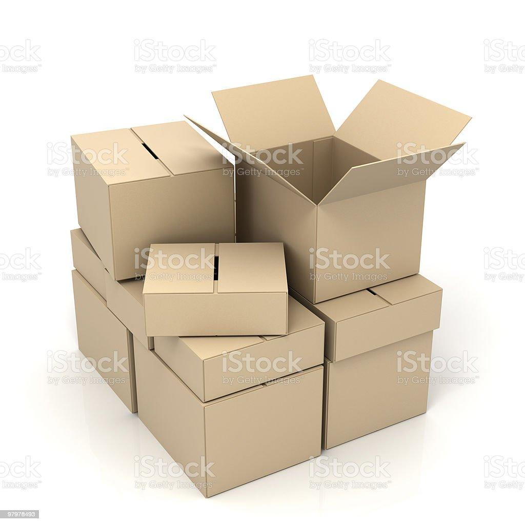 boxes royalty-free stock photo