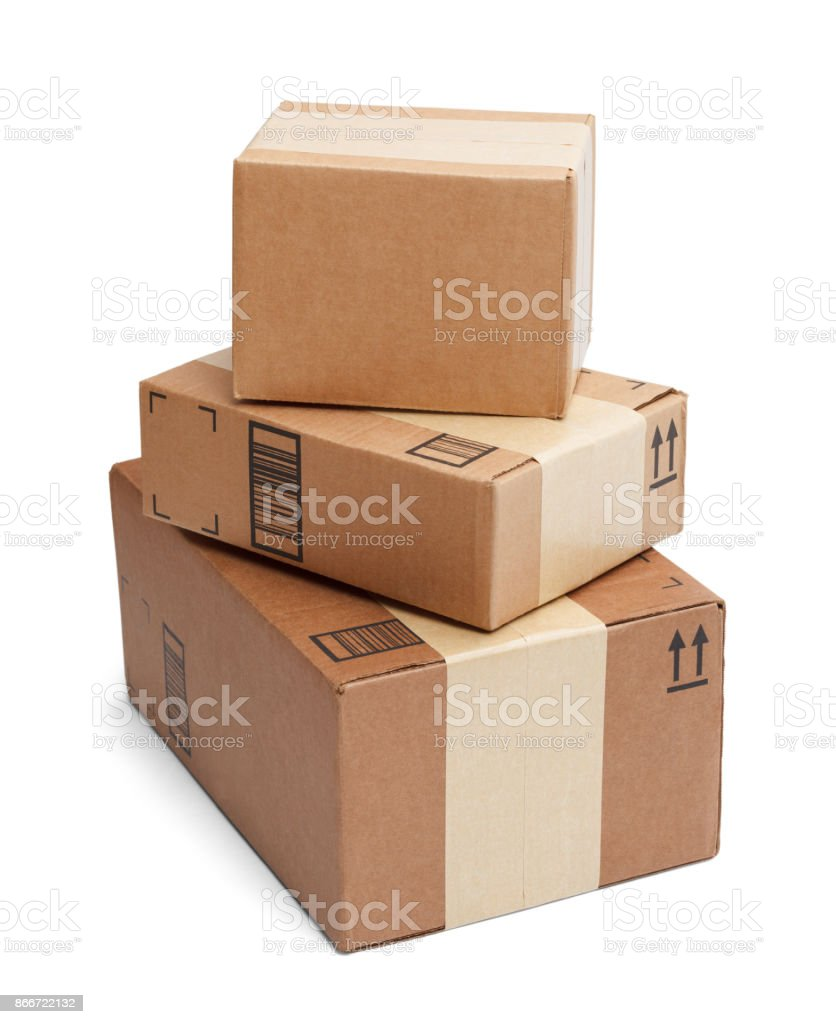 Boxes Stacked stock photo