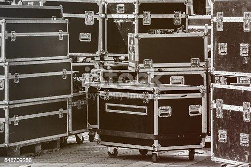 istock Boxes stage equipment 848709286