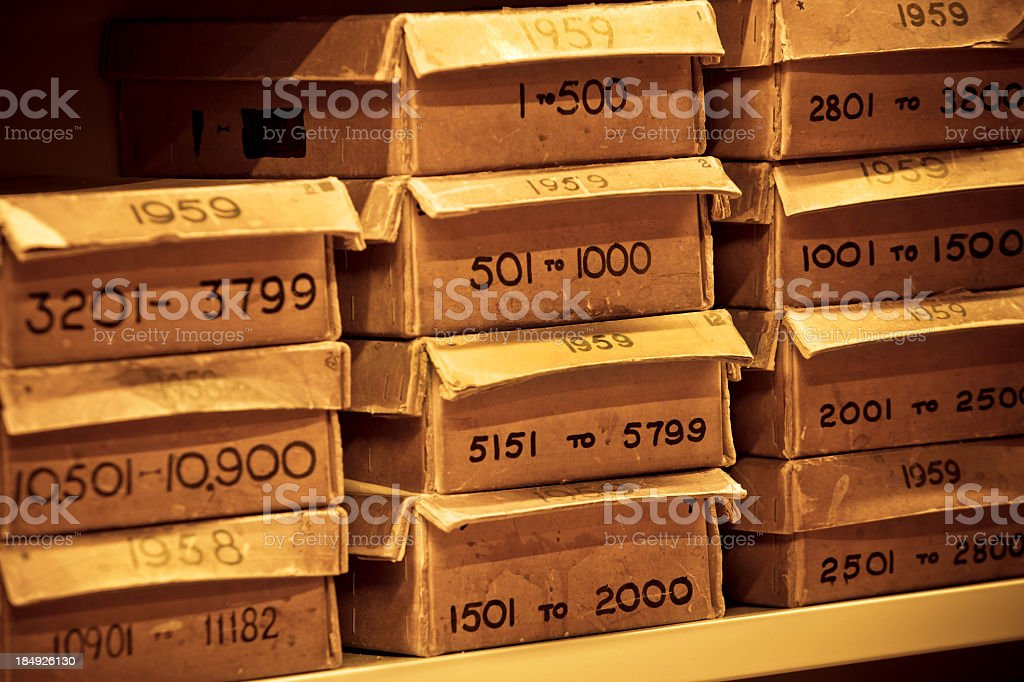 boxes with numbers royalty-free stock photo